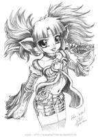 Chloe in armor by Karafactory
