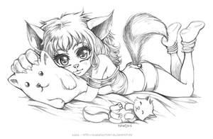 Sweet Dreams Kitty by Karafactory