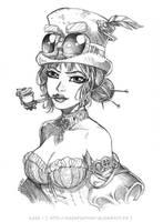 STEAMPUNK LADY by Karafactory