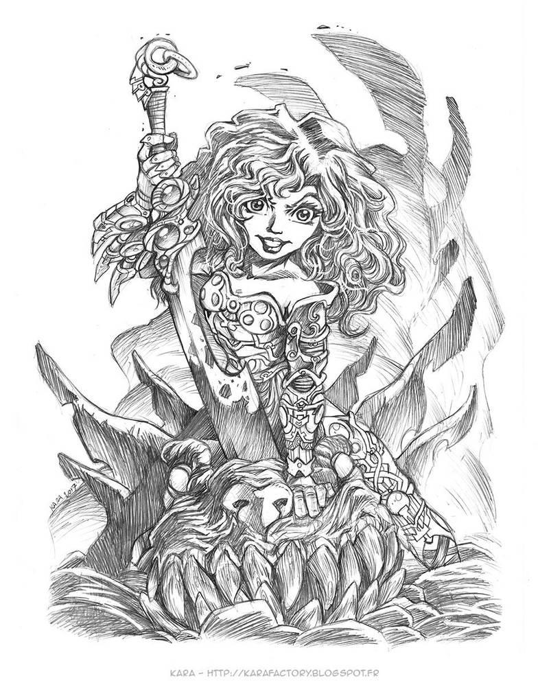 Dragon Huntress by Karafactory