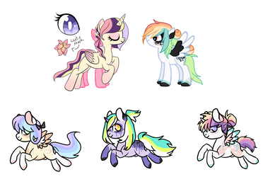 Princess Bright Lily x Rainbow Flight babies[OPEN] by PonPon-Adopts