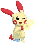 Plusle used Helping Hand! by Lycanark