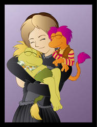 Fraggle Cuddles by Whimsy-Floof