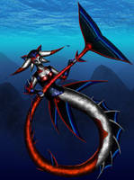 Fennec Mermaid - colored by rahah