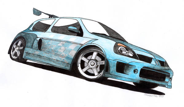 NFS MostWanted Clio V6 color by Samantha-dragon