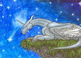 Look, fallin' star by Samantha-dragon