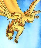 Fire mane by Samantha-dragon