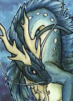ACEO/ATC: Deep Blue by Samantha-dragon