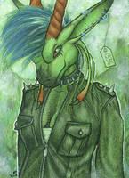ACEO/ATC: Sybila - The Punk Queen by Samantha-dragon