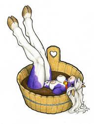 FanArt: Milka - the Chocolate Bath by Samantha-dragon