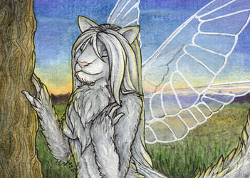ACEO/ATC: Lost in Thoughts by Samantha-dragon