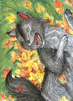 ACEO/ATC: Autumn Happiness by Samantha-dragon