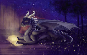 Commission: Bookmark of Allpa with book (art) by Samantha-dragon