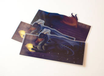 Commission: bookmark of Allpa with book (bookmark) by Samantha-dragon