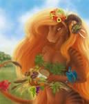 Calendar: Autumn Dragoness by Samantha-dragon