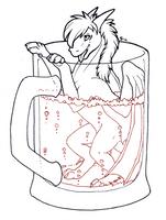 InkTober - No. 11: Refreshing Drink by Samantha-dragon