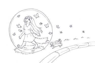 InkTober - No. 19: Personal Bubbles by Samantha-dragon