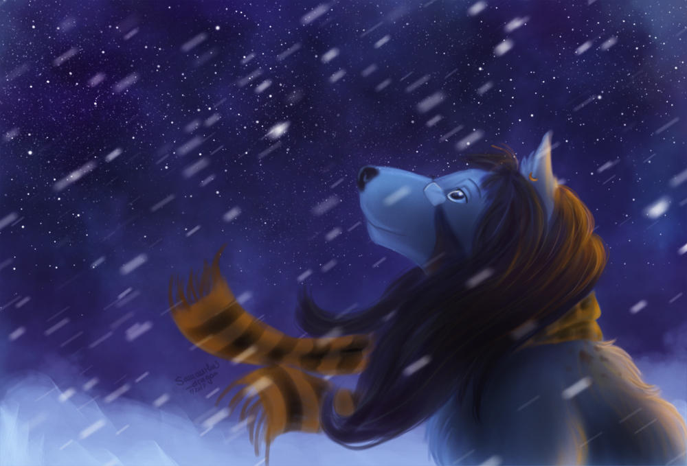 Raffle prize: First snow by Samantha-dragon