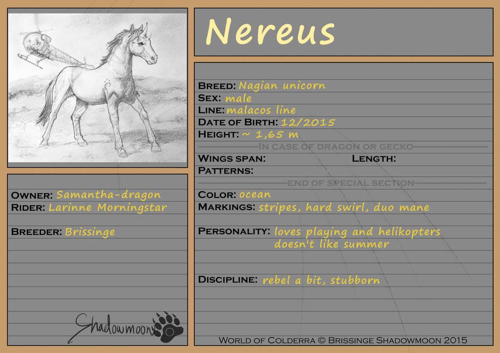 WoC: Mount ID: Nereus by Samantha-dragon