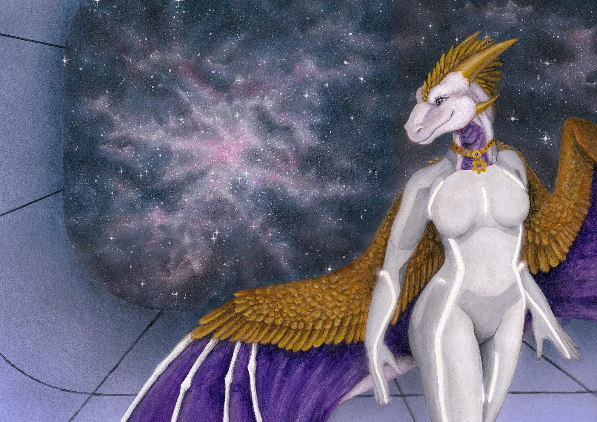 ArtTrade: Cosmic Tir by Samantha-dragon