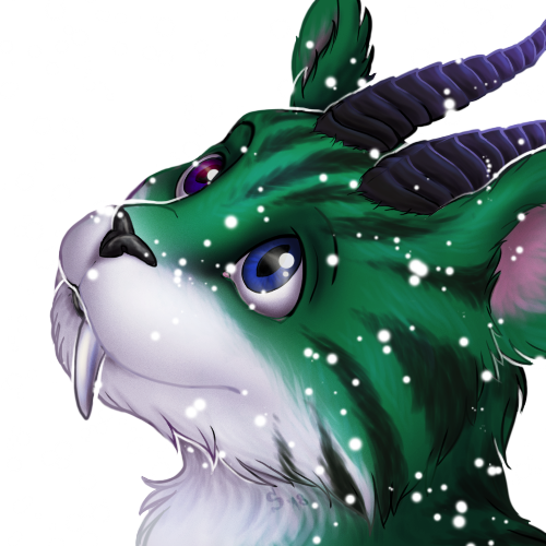 Commission: Snowy icon of Keira by Samantha-dragon