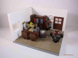 The office of Johnny Thunder by Bricknave