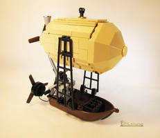 Steampunk Airboat by Bricknave