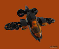Silhouette Stealth Fighter by Bricknave