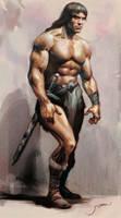 Conan the barbarian study by Jubran