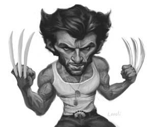 Hugh Jackman - Wolverine Sketch by infernovball