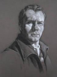 BW Self Portrait by infernovball