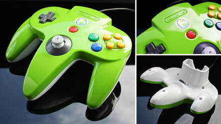 custom Yoshi N64 controller  by Zoki64