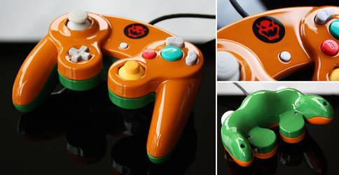 custom Bowser Gamecube controller by Zoki64