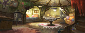Living room by Wilgefortis