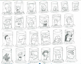 The Simpsons Head Jars by DCZShostkey87259