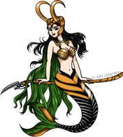 Mermaid Loki by amygrantham