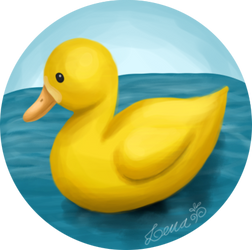 Cute duck by llenalove