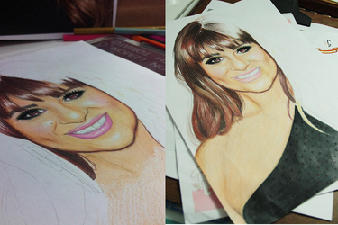 Traditional painting - Lea Michele by llenalove