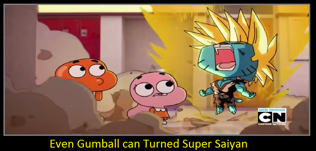 Even Gumball Can Turned Super Saiyan By Keyblademagicdan On Deviantart