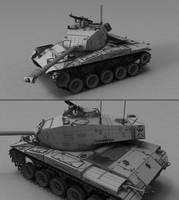 M41 Walker Bulldog Wireframe by MMitov