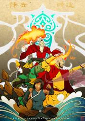 Avatars and Raava by Crimson-Seal