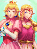 SSBM Princesses by bellhenge