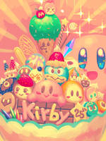 Kirby 25th Anniv by bellhenge