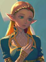 BotW Zelda(2) by bellhenge