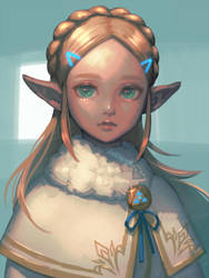 Winter Zelda by bellhenge