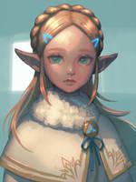 Winter Zelda by bellhenge