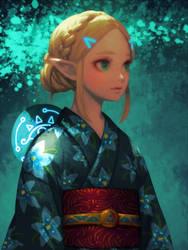 Yukata Zelda by bellhenge