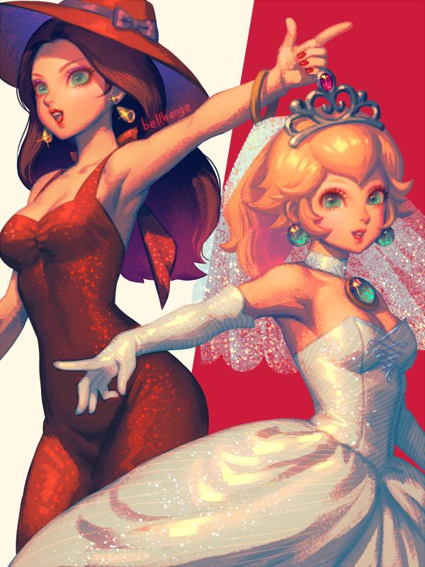 Pauline and Peach by bellhenge