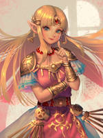 SSBU Zelda by bellhenge