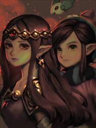 Hilda and Ravio by bellhenge